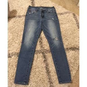 Old navy mid rise rockstar jeans distressed
